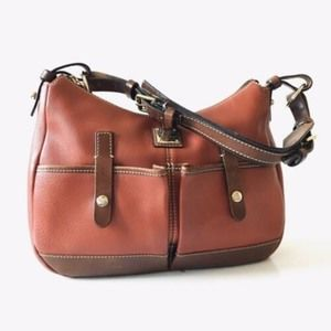 Coach Red Leather Duffle Hobo Shoulder Bag Purse